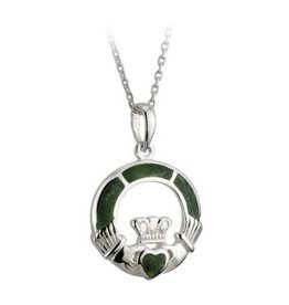 PENDANTS & NECKLACES SOLVAR STERLING & CONNEMARA CLADDAGH PENDANT