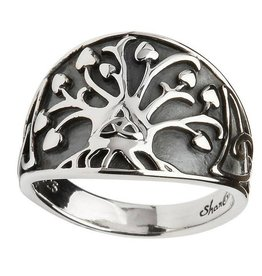 "RINGS SHANORE GENERATIONS ""TRINITY TREE OF LIFE"" STERLING SILVER RING"