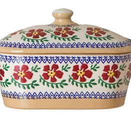 KITCHEN & ACCESSORIES NICHOLAS MOSSE COVERED BUTTER DISH - OLD ROSE