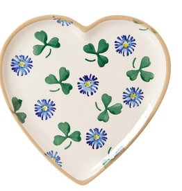 KITCHEN & ACCESSORIES NICHOLAS MOSSE MEDIUM HEART PLATE - CLOVER