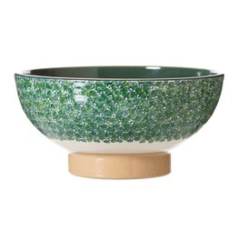 KITCHEN & ACCESSORIES NICHOLAS MOSSE LARGE SALAD BOWL - GREEN LAWN
