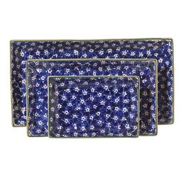 KITCHEN & ACCESSORIES NICHOLAS MOSSE 3 RECTANGLE NESTING DISHES - DARK BLUE LAWN