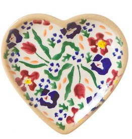 KITCHEN & ACCESSORIES NICHOLAS MOSSE TINY HEART PLATE - WILD FLOWER