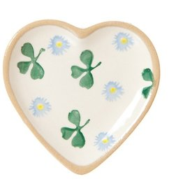 KITCHEN & ACCESSORIES NICHOLAS MOSSE TINY HEART PLATE - CLOVER