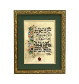 """PLAQUES & GIFTS """"BROTHERS & SISTERS"""" 8X10 FRAMED MANUSCRIPT"""