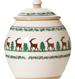 HOLIDAY NICHOLAS MOSSE COOKIE JAR - REINDEER