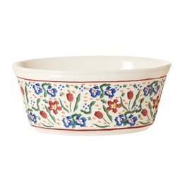 KITCHEN & ACCESSORIES NICHOLAS MOSSE SMALL OVAL PIE DISH - WILD FLOWER