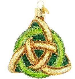 ORNAMENTS CELTIC TRINITY KNOT GLASS ORNAMENT
