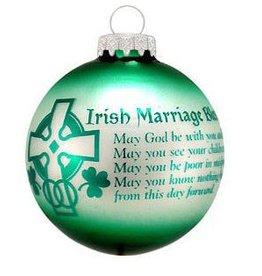 ORNAMENTS IRISH MARRIAGE BLESSING ORNAMENT