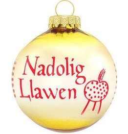 ORNAMENTS NADOLIG LLAWEN WALES CUSTOM ORNAMENT