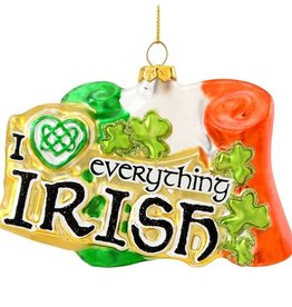 "ORNAMENTS ""I HEART EVERYTHING IRISH"" FLAG ORNAMENT"