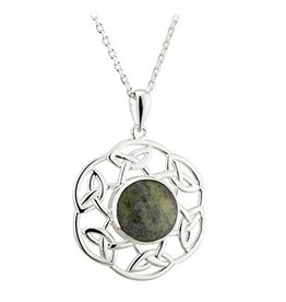 PENDANTS & NECKLACES SOLVAR STERLING & CONNEMARA OPEN CELTIC PENDANT