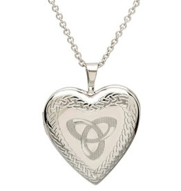PENDANTS & NECKLACES SHANORE STERLING HEART LOCKET with TRINITY