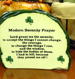 "RELIGIOUS SMALL ""MODERN IRISH"" SERENITY PRAYER STONE"