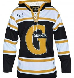 SPORTSWEAR GUINNESS BLACK & GOLD HOODED HOCKEY JERSEY