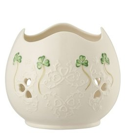CANDLES BELLEEK SHAMROCK LACE PIERCED VOTIVE