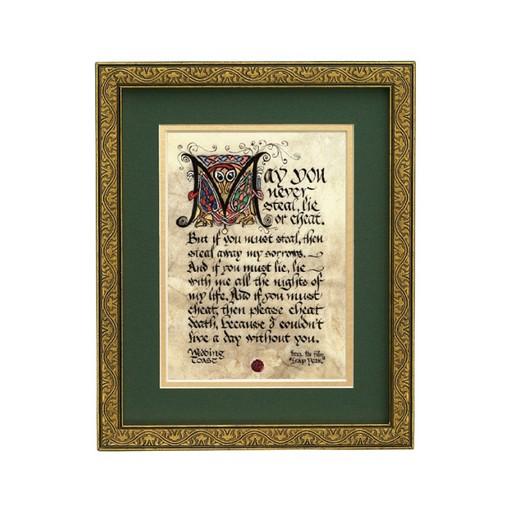 Irish Wedding Toasts.Wedding Toast 8x10 Manuscript