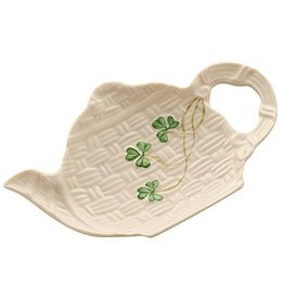 KITCHEN & ACCESSORIES BELLEEK SHAMROCK SPOON REST HOLDER
