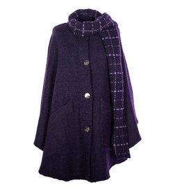 CAPES & RUANAS BRANIGAN WEAVERS TINA CAPE - Grape