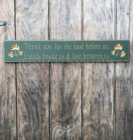 "PLAQUES & GIFTS ""THANK YOU FOR..."" CARVED WOOD SIGN"
