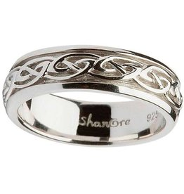 RINGS SHANORE LADIES STERLING CELTIC KNOT WEDDING RING