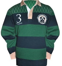 SPORTSWEAR CLEARANCE - GREEN CROKER NAVY TRADITIONAL RUGBY SHIRT - FINAL SALE