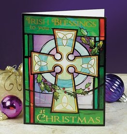 "HOLIDAY ""IRISH BLESSINGS"" CELTIC CROSS CHRISTMAS CARD PACK"