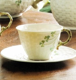TEAPOTS, MUGS & ACCESSORIES BELLEEK SHAMROCK CUP & SAUCER