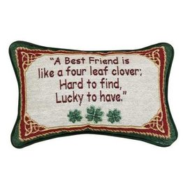 "TAPESTRIES, THROWS, ETC. ""FRIEND CLOVER"" DECORATIVE PILLOW"