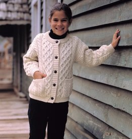 KIDS CLOTHES CHILDREN'S BUTTON ARAN SWEATER