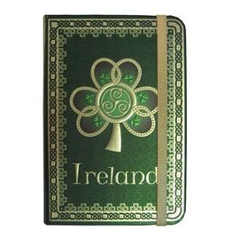 NOVELTY CELTIC NOTEBOOK - IRELAND SHAMROCK