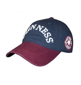 CAPS & HATS GUINNESS NAVY & WINE DISTRESSED LABEL BASEBALL CAP