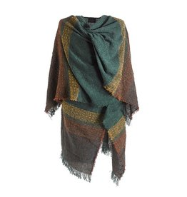 CAPES & RUANAS CELTIC RUANA - Moss Green Check