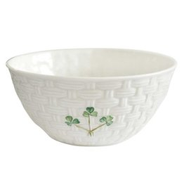 "KITCHEN & ACCESSORIES BELLEEK SHAMROCK 6"" BOWL"