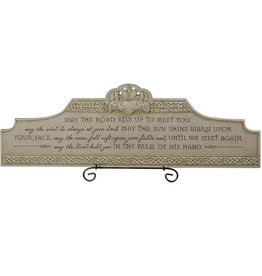 PLAQUES, SIGNS & POSTERS IRISH BLESSING PLAQUE with STAND