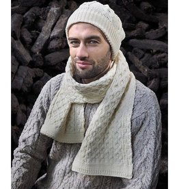 ACCESSORIES IRISH KNIT MERINO WOOL SCARF