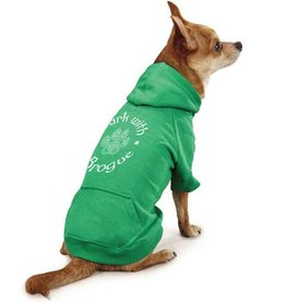 "SWEATSHIRTS ""BARK with a BROGUE"" DOG HOODIE"