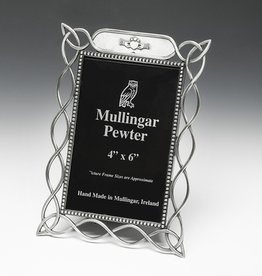 FRAMES MULLINGAR PEWTER 4x6 KNOT FRAME with CLADDAGH