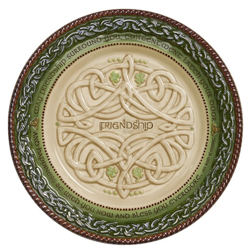 DECOR CELTIC DESSERT PLATE with STAND