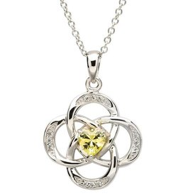PENDANTS & NECKLACES CLEARANCE - SHANORE STERLING CELTIC KNOT BIRTHSTONE PENDANT - FINAL SALE