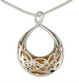 PENDANTS & NECKLACES KEITH JACK STERLING & 22K WINDOW TO THE SOUL SML TEARDROP PENDANT
