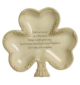 KITCHEN & ACCESSORIES SHAMROCK CANDY DISH