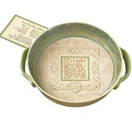 KITCHEN & ACCESSORIES IRISH SODA BREAD DISH with RECIPE ON CARD