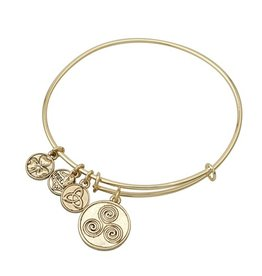 BRACELETS & BANGLES CLEARANCE - SOLVAR GOLD TONE SPIRAL CHARM BANGLE - FINAL SALE