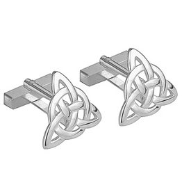 MENS JEWELRY SOLVAR RHODIUM PLATE CIRCLE-TRINITY CUFFLINKS