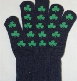 KIDS ACCESSORIES NAVY SHAMROCK YOUTH GLOVES