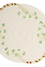 PLATES, TRAYS & DISHES BELLEEK SHAMROCK BREAD PLATE