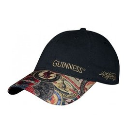 CAPS & HATS GUINNESS WASHED VINTAGE LABEL BASEBALL CAP