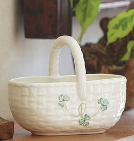 DECOR BELLEEK SHAMROCK SHOPPING BASKET