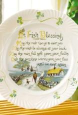 PLATES, TRAYS & DISHES BELLEEK HARP IRISH BLESSING PLATE